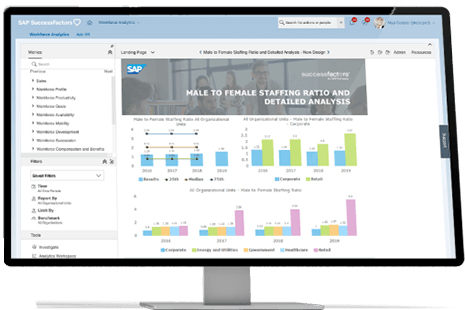 SAP workforce analytics and planning software product image